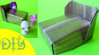 DIY Origami doll LOL Bed. How to Make a Paper Doll Bed. Baby doll house bed Instructions