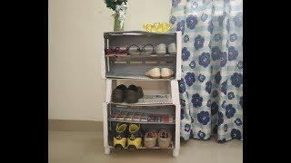 Shoe rack from wooden crate#diy#in Tamil
