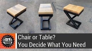 Chair or table? You decide what you need - 100% DIY