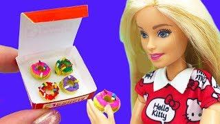 6 DIY awesome Ideas for Barbie ~ miniature donats, phone, mentos and more