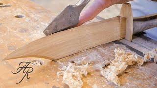 Making A Wooden Bowie Knife