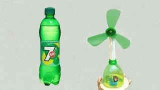 DIY Craft Idea  With Plastic Bottle - How To Make Table Fan Using 7up Bottle!!