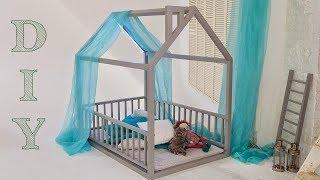 DIY - How to Make wooden House Bed for Kids. Kids Bed from Wood Under $50