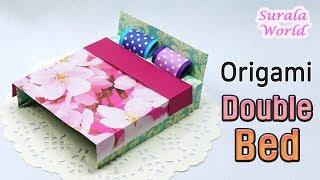 Origami - Double Bed, Cover, Pillows (Paper Bed, Tutorial, DIY)