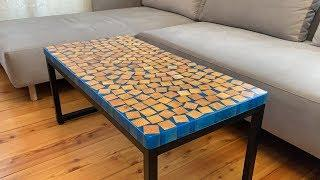 Coffee table with epoxy resin Homemade