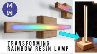 DIY wireless RAINBOW RESIN lamp    TRANSFORMS into 3 DIFFERENT LAMPS    How to Make