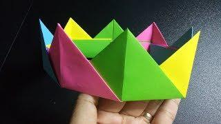 DIY | HOW TO MAKE A COLORFUL PAPER CROWN FOR KIDS | EASY CRAFTS FOR KIDS | PARTY HAT