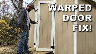 How to Fix a Warped Plywood Door Without Removing It | DIY Hack