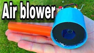 How to make mini supper powerful air blower at home