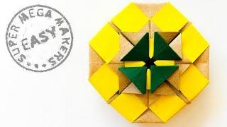 Origami Medallion. How to make Gift from paper
