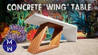 """Making a Concrete """"Wing"""" Table"""