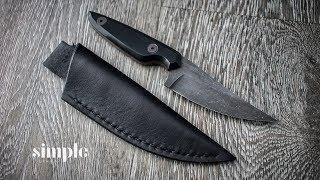 How to make a Leather Sheath - (for the Crooked Finger)