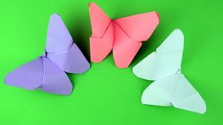How to make an Origami Butterfly DIY - Origami paper butterfly step by step tutorial