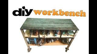 DIY a Heavy Duty Workbench from old Paper Cutting Blades - Portable Mobile Mega steel worktop