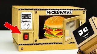 WOW! How to make MINI TOY MICROWAVE OVEN for Mikey from cardboard| Diy crafts for kids