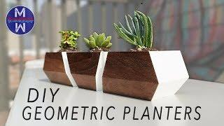 DIY Succulent Planters || woodworking || how to make